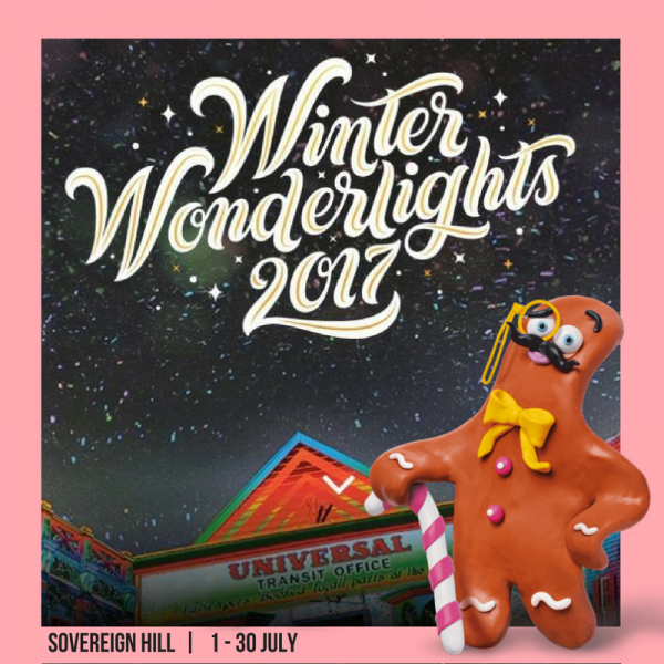 Wilton's Gingerbread Man at Winter Wonderlights Festival!
